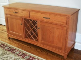 Custom Oak Wine Buffet