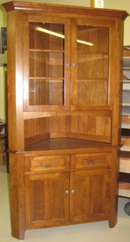 Custom Cherry Corner Hutch