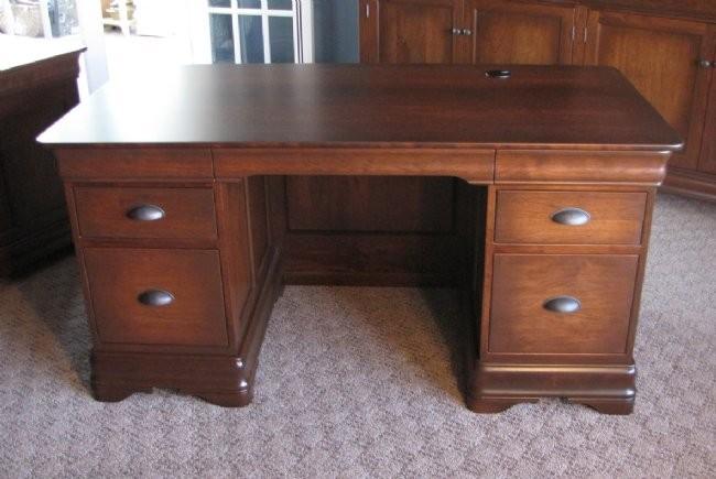 Custom Cherry Double Pedestal Desk