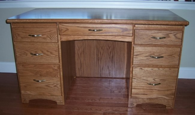 Custom Oak Writing Desk
