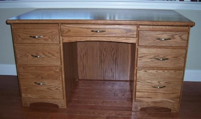 Custom Oak Writing Desk