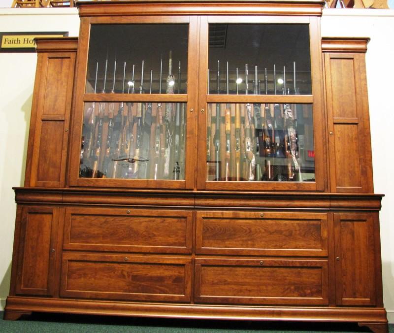 Custom Cherry Gun Cabinet 46 Huge