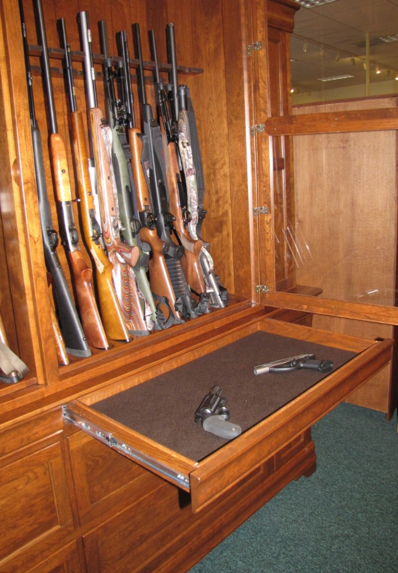Charmant Custom Cherry Gun Cabinet; Custom Cherry Gun Cabinet ...