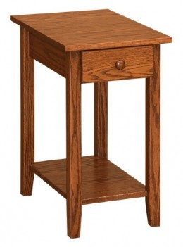 Shaker Chairside Table with Shelf