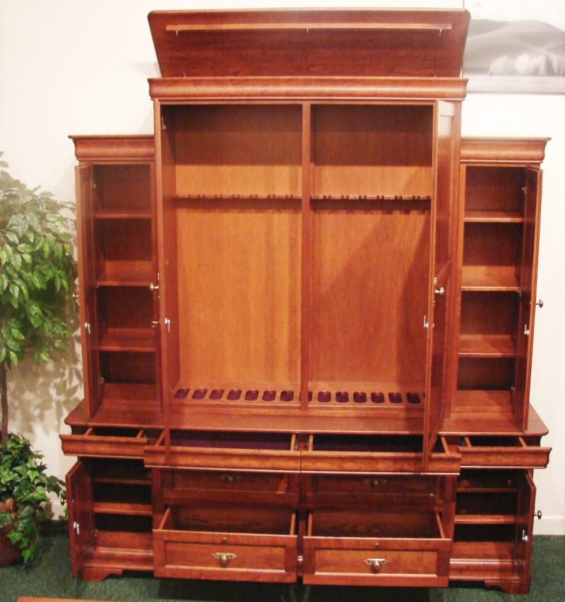 Custom Cherry Gun Cabinet; Custom Cherry Gun Cabinet ...
