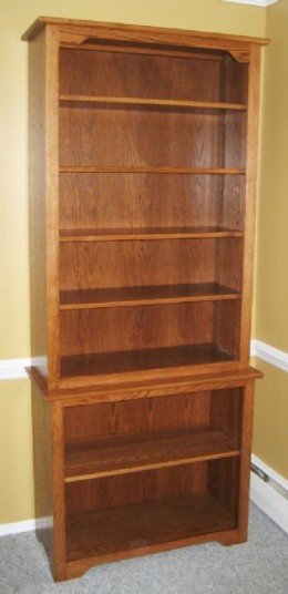 Custom Oak Bookcase