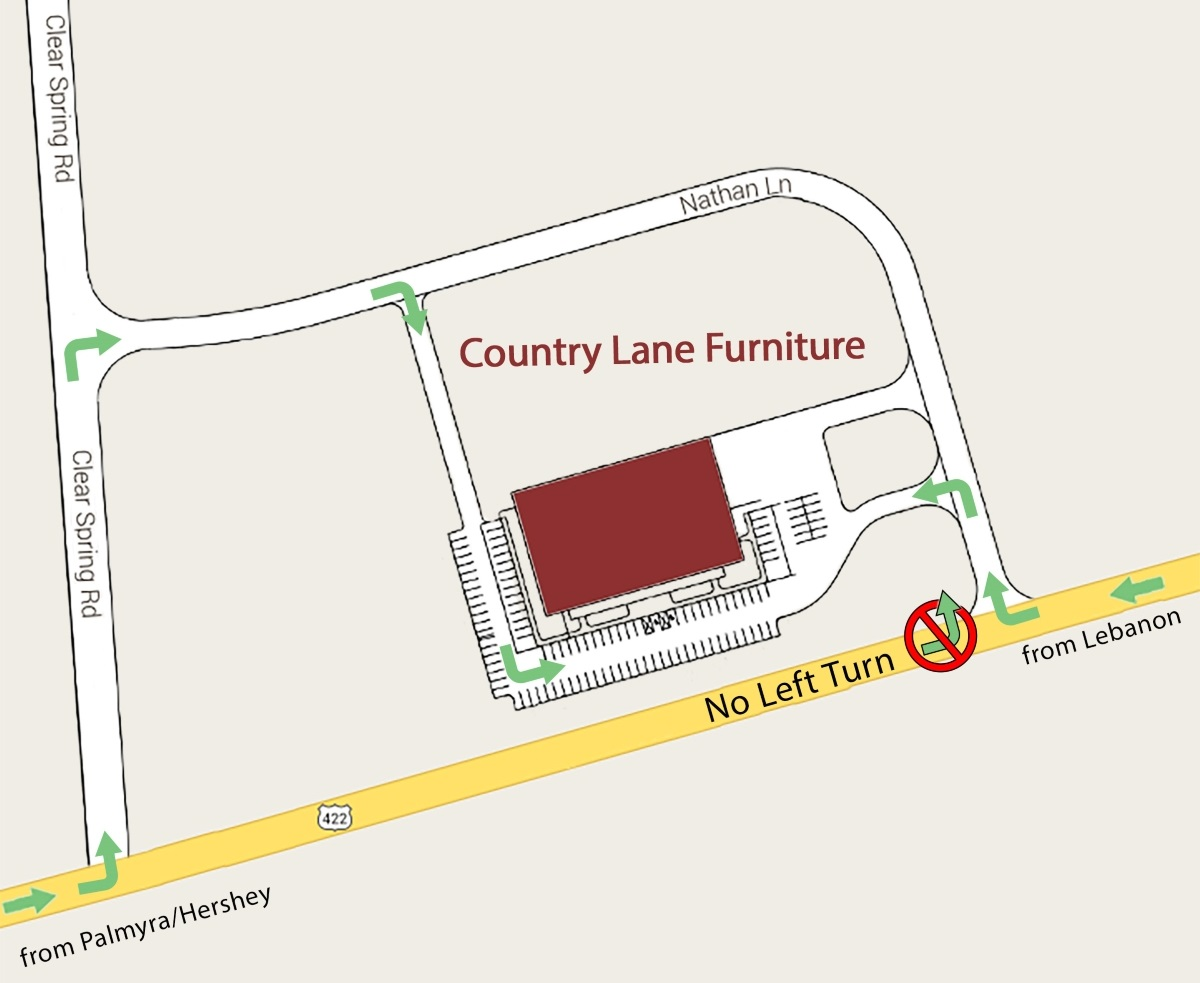 Country Lane Furniture Location Map
