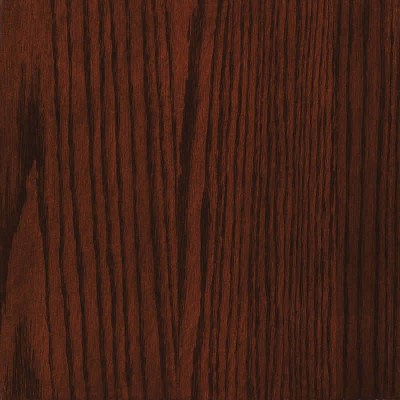 OCS 227 Rich Cherry Stain on Oak
